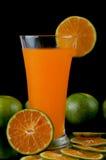 橙汁和片式桔子 图库摄影