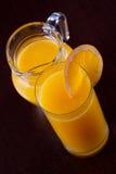 橙汁早餐和桔子 免版税库存照片