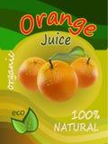 橙汁模板成套设计传染媒介例证 免版税库存图片