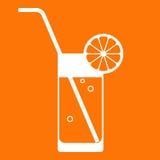 橙汁玻璃 免版税库存图片