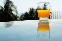 橙汁过去 图库摄影