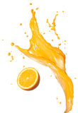 橙汁飞溅 库存图片