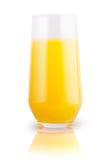 橙汁玻璃 库存照片