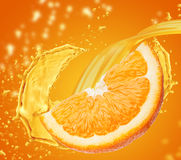 橙汁 免版税库存图片