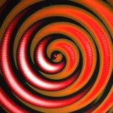 橙红漩涡 免版税库存图片
