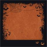 橙色万圣夜难看的东西框架 免版税库存照片