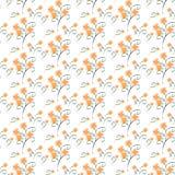 橙色万寿菊无缝的样式 库存图片
