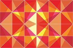 橙色三角-抽象传染媒介背景 库存照片