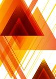 橙色三角 免版税库存图片