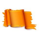 橙色丝带 库存图片