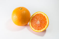 橙色两个的一半 免版税库存图片