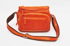 橙色书包 图库摄影