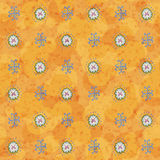 橙色乱画墙纸 库存图片