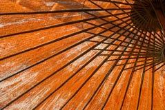 橙色伞 免版税库存图片