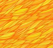 橙色传染媒介乱画头发无缝的样式 免版税图库摄影
