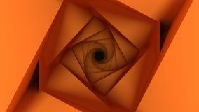 橙色低多几何背景 免版税图库摄影