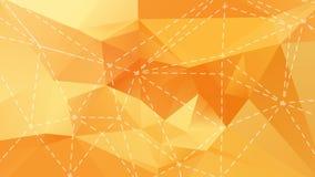 橙色低多背景 免版税库存图片