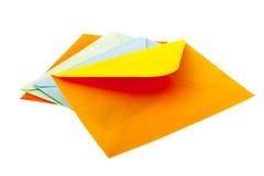 橙色信封 库存图片