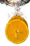 橙色倾没 免版税库存照片