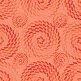 橙色光芒卷semless样式 库存图片