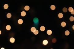 橙色光,圈子和淡黄色 免版税图库摄影