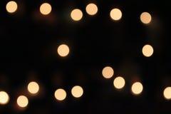 橙色光,圈子和淡黄色 免版税库存照片