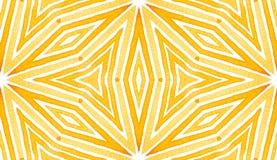 橙色几何水彩 精美无缝的帕特 免版税图库摄影