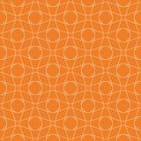 橙色几何设计 无缝的模式 免版税库存照片