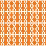 橙色几何设计 无缝的模式 库存图片