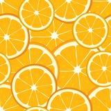 橙色切片传染媒介无缝的背景  向量例证