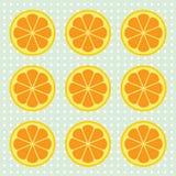 橙色切片样式 也corel凹道例证向量 库存照片