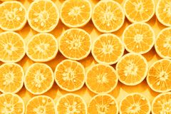 橙色切片样式colorized流行艺术背景 免版税图库摄影