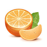 橙色切片用橙色果子  图库摄影