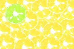 橙色切片颜色艺术  免版税库存图片