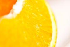 橙色切片细节 免版税库存图片
