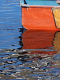 橙色划艇 库存图片