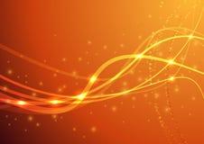 橙色力量波浪 免版税库存照片