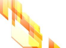 橙色动态摘要在白色背景中 免版税库存图片