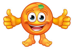 橙色动画片果子吉祥人字符 向量例证