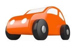 橙色动画片玩具汽车 免版税库存图片
