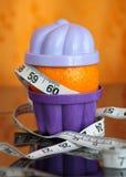 橙色包围的码尺 免版税库存照片