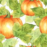 橙色南瓜 无缝1个的模式 库存例证