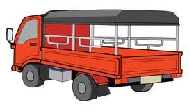 橙色卡车 向量例证