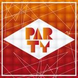 橙色和抽象党海报设计,传染媒介例证 向量例证