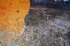 橙色和木背景 免版税库存图片