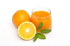 橙色和橙汁 免版税库存图片