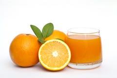橙色和橙汁 免版税库存照片