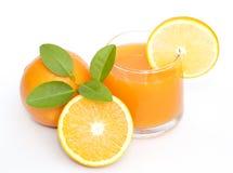 橙色和橙汁 库存图片