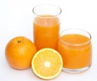 橙色和橙汁 免版税图库摄影