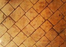 橙色和红砖走道 边路 纹理 背景 免版税图库摄影